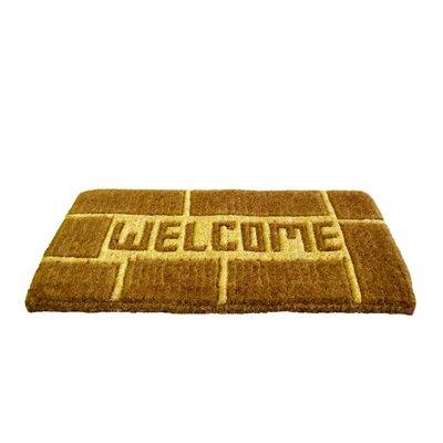 Woven Welcome Doormat Size: 18