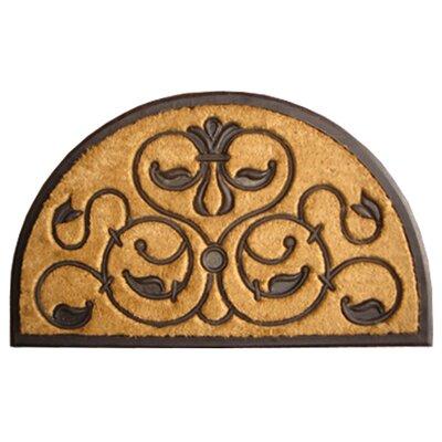 Molded Brigoder Half Round Doormat Size: 18 x 30