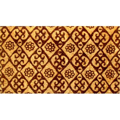 Woven Floral Doormat Mat Size: Rectangle 18 x 30