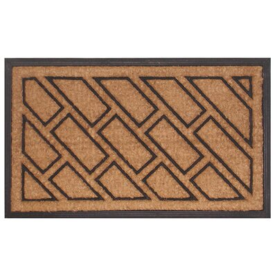 Molded Offset Brick Doormat Mat Size: Rectangle 18