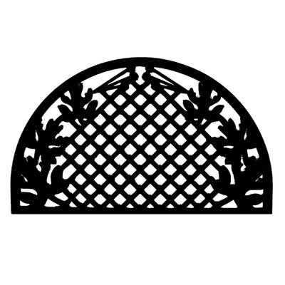 Molded Grid Leaves Doormat Size: 18 x 30