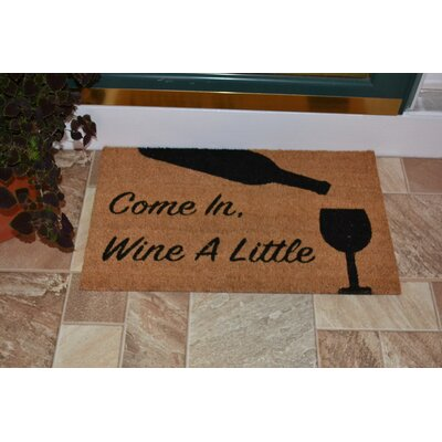 Carew Wine A Little Backed Coir Doormat
