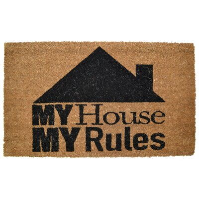 Ramsey My House My Rules Backed Coir Doormat