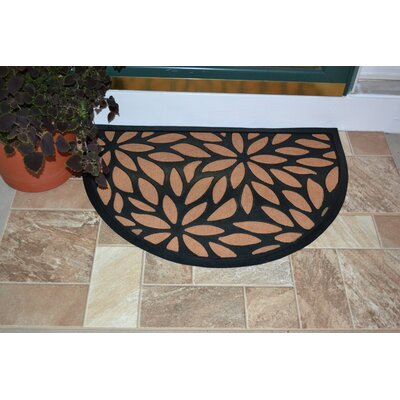 Winona Petals Rubber Doormat