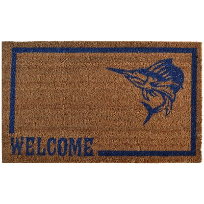 Molded Swordfish Doormat Rug Size: Rectangle 30 x 18