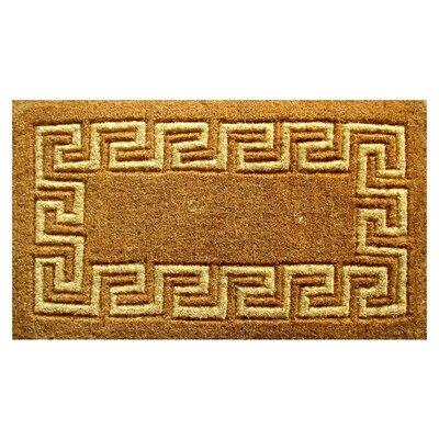 Woven Greek Key Doormat Size: 36 x 60