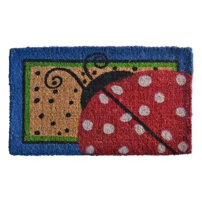 Creel Ladybug Dots Doormat Rug Size: Rectangle 30 x 18