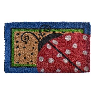 Creel Ladybug Dots Doormat Rug Size: 30 x 18