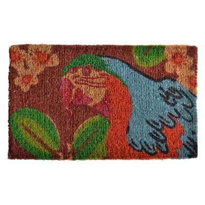 Creel Bahama Parrot Doormat Rug Size: Rectangle 30 x 18