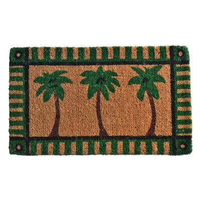 Creel Palm Tree Doormat Rug Size: 30 x 18