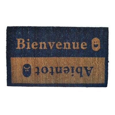 Molded Beinvenue-Abientot Doormat Rug Size: 30 x 18