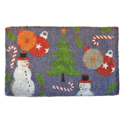 Woven Holiday Spirit Doormat Mat Size: Rectangle 30 x 18