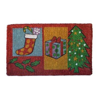 Woven Christmas Gift Doormat Rug Size: 30 x 18
