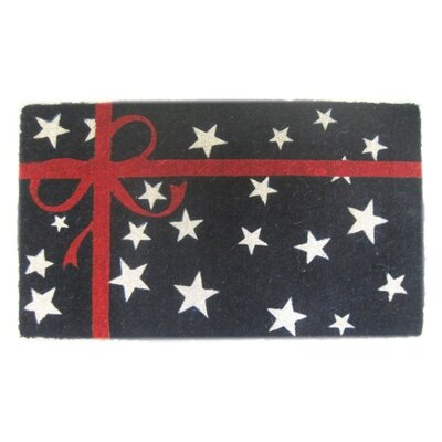 Woven Patriotic Present Doormat Mat Size: Rectangle 30 x 18