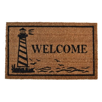 Molded Guiding Light Doormat Rug Size: 30 x 18