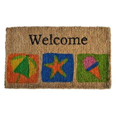 Creel Welcome Beach Doormat Rug Size: 30 x 18