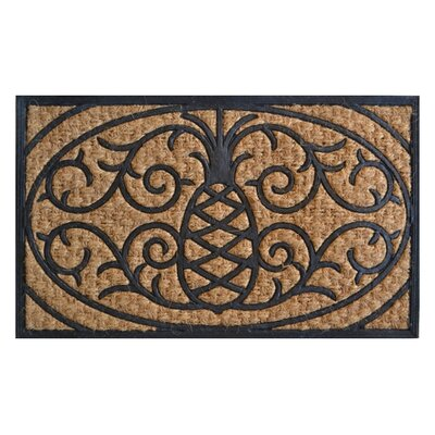 Molded Pineapple Doormat Rug Size: 30 x 18