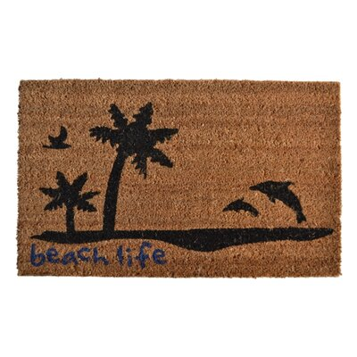 Molded Beach Life Doormat Mat Size: Rectangle 30 x 18