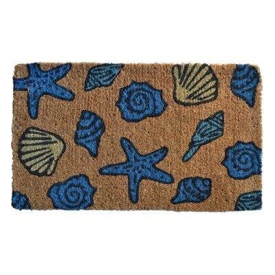 Creel Sea Shells Doormat Mat Size: Rectangle 30 x 18