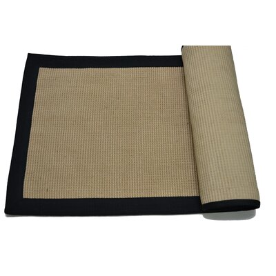 Black/Tan Border Area Rug Rug Size: Rectangle 3 x 5