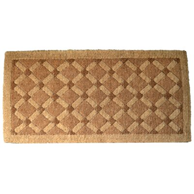 Woven Cross Board Doormat Size: 18 x 47