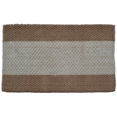 Wide Brown/Grey Stripes Area Rug Rug Size: Rectangle 2 x 3