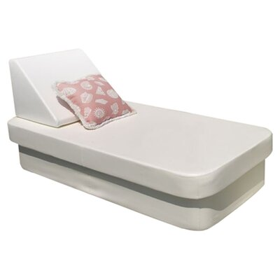COT Resort Chaise Lounge Fabric Color: Silver Pixel