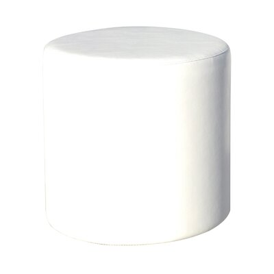 Cylinder Ottoman Fabric: Chill White