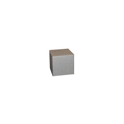 Cube Ottoman Fabric: Steel Grey