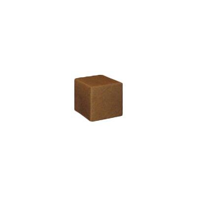 Cube Ottoman Fabric: Cognac