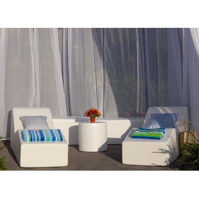 Pool 5 Piece Lounge Seating Group Fabric: Bronze Linen