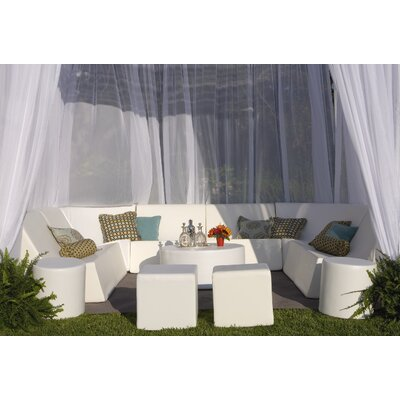 Romp Cabana 13 Piece Bench Seating Group Fabric: Steel Gray