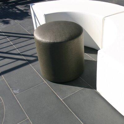 Cylinder Ottoman Fabric: Steel Grey DOT-Steel Grey