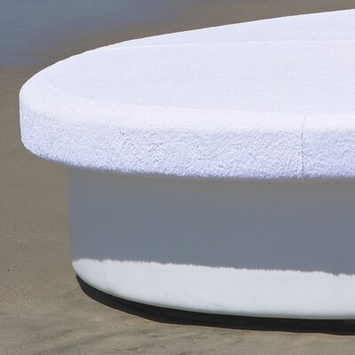 Topper-Sun Terry Cover For Sun Pad Slipcover Upholstery: Chill White