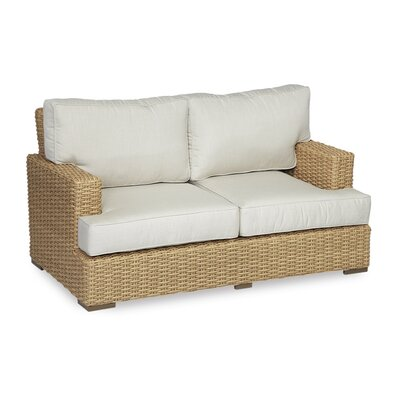 Leucadia Loveseat with Cushions Cushion Color: Canvas Flax with self welt