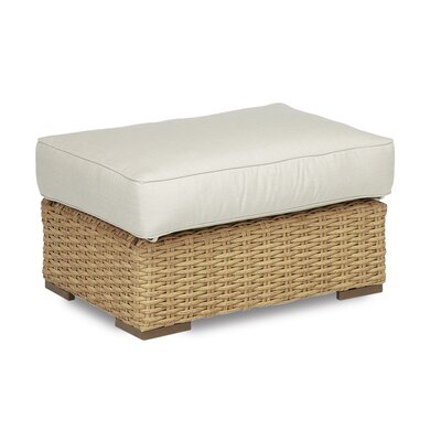 Leucadia Ottoman with Cushions Cushion Color: Canvas Flax with self welt