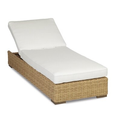 Leucadia Chaise Lounge with Cushions Cushion Color: Canvas Flax with self welt