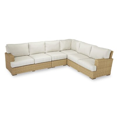 Leucadia Sectional with Cushions Cushion Color: Canvas Flax with self welt