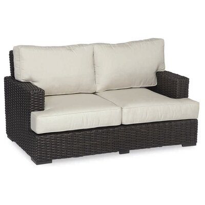 Cardiff Loveseat with Cushions Cushion Color: Canvas Flax with self welt