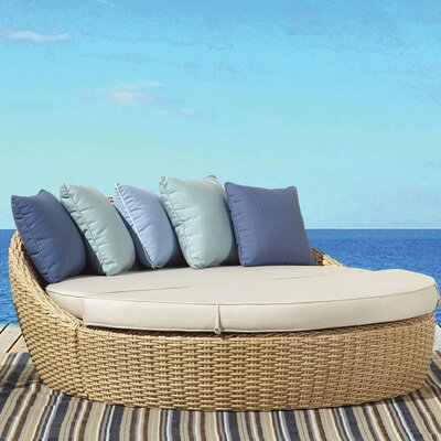 Leucadia Daybed with Cushions Cushion Color: Canvas Flax with self welt
