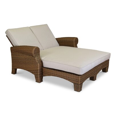 Santa Cruz Double Chaise Lounge with Cushion Fabric: Canvas Flax