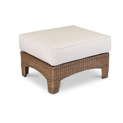 Santa Cruz Ottoman with Cushion Fabric: Canvas Flax