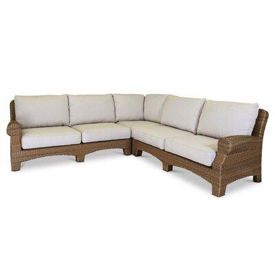 Santa Cruz Sectional with Self Welt Cushions Fabric: Canvas Flax