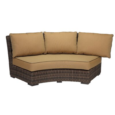 Montecito Curved Loveseat with Cushion Finish: Canvas Canvas
