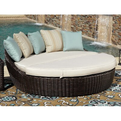 Cardiff Daybed with Cushions Cushion Color: Canvas Flax with self welt