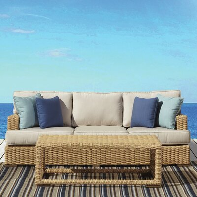 Leucadia Sofa with Cushions Cushion Color: Canvas Flax with self welt