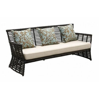 Home/Family Venice Sofa with Self Welt Cushion Fabric: Canvas Palm
