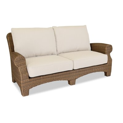 Santa Cruz Loveseat with Self Welt Cushions Fabric: Canvas Flax