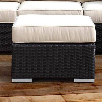 Solana Indoor/Outdoor Ottoman with Cushion