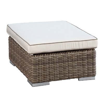 Hasler Ottoman with Cushion Fabric: Canvas Antique Beige